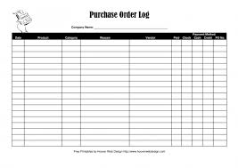 purchase order log template excel download purchase order log template excel pdf rtf word