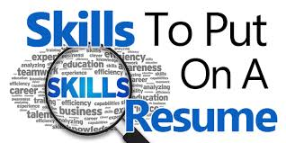 Skills To Put On An Application 40 Skills To Put On A Resume Powerful Examples For 2019