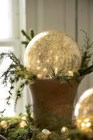 Mercury Glass Globes With Lights Crackled Glass Led Gazing Globes Gardeners Com