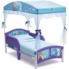Disney Frozen Little Girls Canopy Toddler Bed Princess Furniture Bedroom