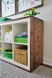 ikea storage cubes furniture. beautiful ikea an easy ikea hack bookcase to woodwrapped changing table inside storage cubes furniture