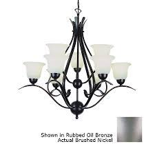 portfolio contemporary 9 light brushed nickel chandelier