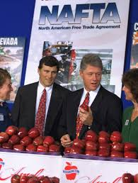 what is nafta is it good for the us business insider president clinton holds an apple while attending a north american trade agreement trade fair on the south lawn of the white house 1993