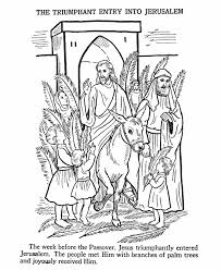 Small Picture Easter Bible Coloring Pages Jesus enters Jerusalem