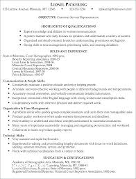Examples Of Customer Service Skills For Resume Example Of Customer