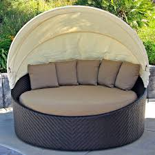 Outdoor & Landscaping Interesting Circle Gray Fabric Seat Feat