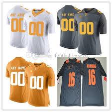 Hombre De Peyton Manning Fútbol Niños Tennessee Mujeres 16 Personalizado Ncaa Personalizadas Para Voluntarios Pro Colegio Camisetas