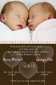 twin birth announcements photo cards twin birth announcement cards with spots and stripes