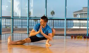yoga in the ocean front studio