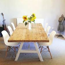 eight seater dining set reclaimed industrial chic a frame 6 8 solid wood metal dining table