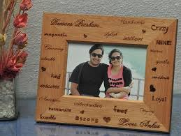personalized engraved wooden photo frame to delhi