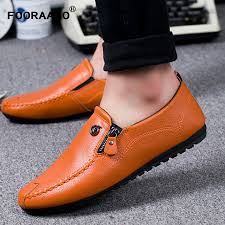 fashion 2018 men loafers shoes leather mens summer shoes flats spring male casual shoes slip on