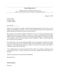 Technical Support Cover Letters 16 Technical Support Cover Letter