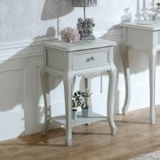 lamp tables. Ornate Grey One Drawer Lamp Table - Elise Range Tables