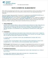 Business Non Compete Agreement Form Example Between Businesses ...