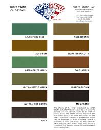 Chlorostain Color Chart Super Stone Inc