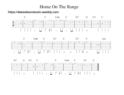 Home On The Range Easy Guitar Tab In 2019 Easy Guitar Tabs