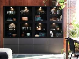 ikea besta cabinet ideas medium size this black brown storage combination dark grey glass doors and