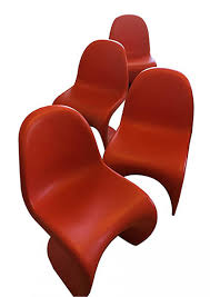 vintage panton chairs by verner panton for vitra set of 4 for