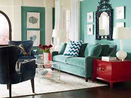 decor with pops of turquoise red