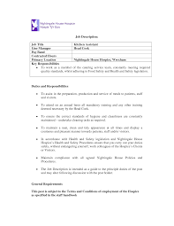 Fair Kitchen Helper Resume Sample With Duties Of A Cook