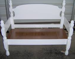 Headboard To Bench Four Poster Headboard Bench Easy My Repurposed Life