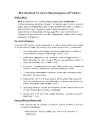 Mla Handbook 7th Edition Engl 1302 Rhetoric Studocu