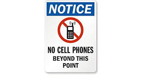 No Cell Phone Sign Printable Notice No Cell Phones Beyond This Point With No Mobile