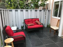 bristol patio furniture set scarlet red 4 piece la z boy outdoor i have a small backyard and they are small yet inviting didn t want super bulky patio