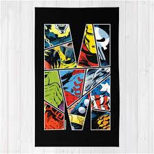 classic marvel comics superhero area rug