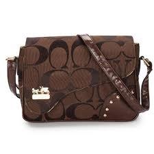 ... Coach Stud In Signature Medium Coffee Crossbody Bags 51693 ...
