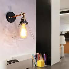 modern wall light bedroom glass swing