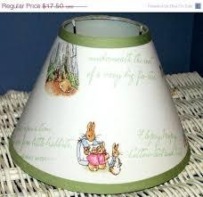 peter rabbit lamp potter lampshade choose your ribbon peter rabbit nursery potter nursery peter rabbit lamp