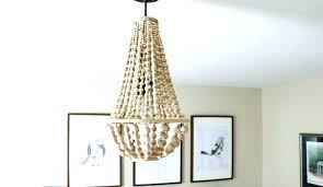 pottery barn elena wood bead chandelier wood bead chandelier i love this chandelier made from wood