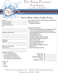 Sample Cake Order Form Template Order Form Sample Cake Supplies Pinterest Order Form Basket 17