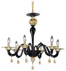 cabiri murano glass chandelier black