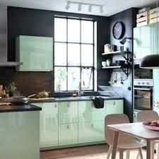 ikea lighting kitchen. Striking Black And Green Kitchen With KALLARP Doors In High-gloss Light ÖSTERNÄS Ikea Lighting W