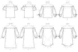 Off The Shoulder Shirt Pattern