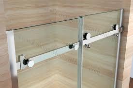 glass sliding shower doors frameless and features of priscus frameless glass shower shield glass door and