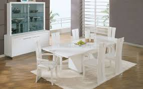 white dining room set formal. White High Gloss Finish Contemporary Formal Dining Room Set