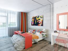 Colorful Bedroom Designs Two Cheerful Apartments With Creative Storage And Splashes Of Color