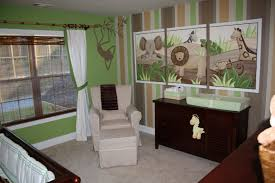 ... Entrancing Image Of Unique Baby Nursery Room Decoration Ideas : Good  Looking Green Jungle Unique Baby ...