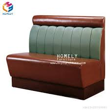 modern american retro style diner leather bench seat sofa restaurant booths