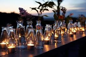 party lighting ideas. Beauteous Backyard Party Lighting Table Decor Inspiration With Glass Votive Candle Jar Ideas N