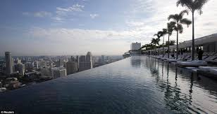 Theo Walcott was worried about falling off the edge of Marina Bay
