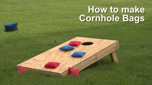 Wooden Corn Hole Game How to make Cornhole Bags YouTube 62