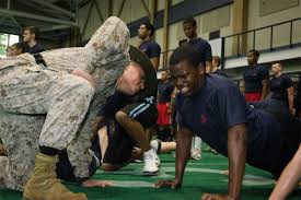 Training military teen adult