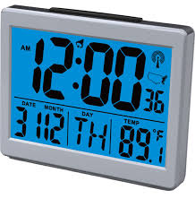 atomic bedroom alarm clock with 1 5 high time numbers