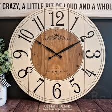 the allyssa farmhouse clock arabic