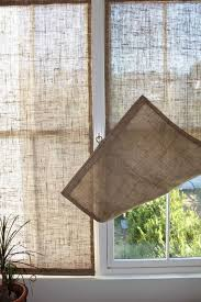 Burlap Roman Shade  HouzzBurlap Window Blinds